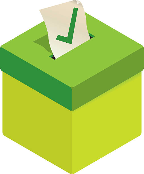 Picture of a ballot box with a Yes vote being posted