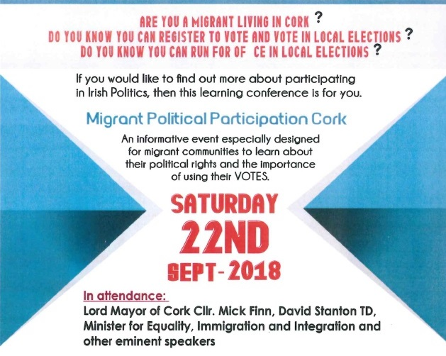 The 2nd in a series of 3 events to promote migrant participation in politics